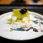 84803802 - 蕗飯蒸し 煎り胡麻
