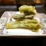 豪龍久保 - 佐渡産天然山菜天ぷら 蕗の薹 椎茸 こごみ タラの芽