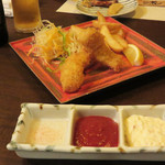 小箱浦本 - 下関ふぐのフィッシュ&チップス。