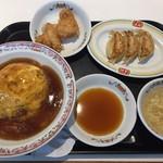 餃子の王将 - 選べる飯ランチ(天津飯、京風)