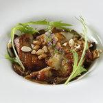 レインボー・ロール・スシ - 銘柄鶏のソテー 茸のソース