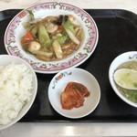 餃子の王将 - 料理写真:八宝菜とご飯セット
