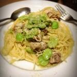 ラ カサリンガ - 鶏肉と空豆のパスタ