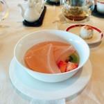 梨杏 - 苺の杏仁豆腐
