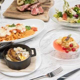 旬の食材をふんだんに。イタリアンをこだわりの空間で楽しむ
