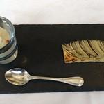 ラ・ブランシュ - 玉葱のアイスと玉葱のタルト