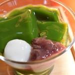 84825885 - ミニ生茶ゼリイ(きつね茶蕎麦セット)