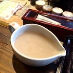 手打ちそばと朝宮茶の店 黒田園 - 蕎麦湯の濃厚さもいい感じ♪
