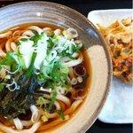 つるりん - 冷やしぶっかけ+野菜かき揚げ=450円