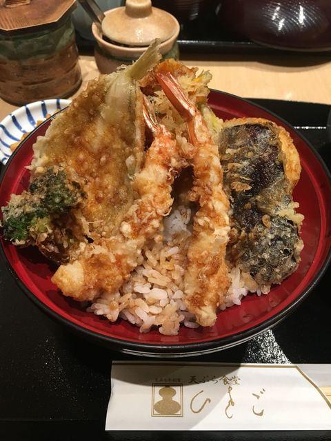 てんぷら食堂 ひさご - ひさご天丼✧*。¥1000