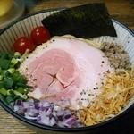 麺屋 頭上注意 ふすかけ1.8号店 - 【塩~にぼリアン(煮干×itarian) 中】¥800