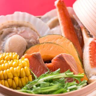 ◆道産野菜・海鮮が詰まったせいろ蒸しが人気◆