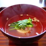 京料理屋 嵐山さくら - 白魚真薯の椀