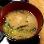 蒲田温泉 - 味噌汁も手作り