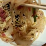 蒲田温泉 - 麺が独特でいい