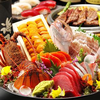 旬の海鮮をはじめ、肉・野菜料理など季節で替わるコース!