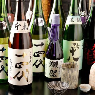 肉割烹に合う、多種多様な日本酒