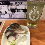 国民酒場 じぃえんとるまん - 炙りしめサバ&緑茶ハイ