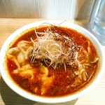 中村麺三郎商店 - 酸辣湯麺(900円)+海老ワンタン3ヶ200円+大盛1.5玉100円=1200円