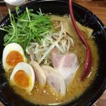 らぁめん 高砂家 - 味噌ラーメン700円+味玉