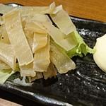 炙谷 - 炙りエイヒレ     ¥380
