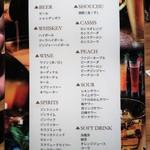 個室 肉バル マーケットグリル - 飲み放題メニュー
