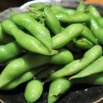 個室 肉バル マーケットグリル - 前菜  塩茹で枝豆