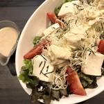 豆腐と湯葉の京風サラダ
