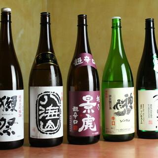"""寿司や海鮮と相性の良い、""""辛口日本酒""""で美味一献。"""