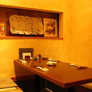 【宴会・法事に】各種お集りに最適な地下の完全個室5室。