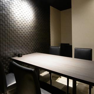 【完全個室完備】洗練されたシックな空間でお寿司を愉しむ…◎