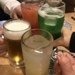 居酒屋ニューシンマチ - 乾杯✧(๑✪д✪)۶ㅂ٩(✪д✪๑)✧