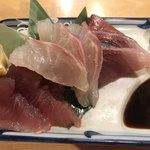 居酒屋ニューシンマチ - あ魚の3種盛り♪見た目よりましな味!笑^ ^