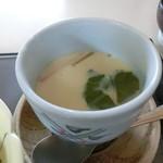 かん七 - シニアセットの茶碗蒸し