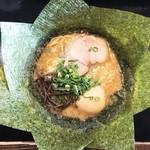 六角堂 - 魚介とんこつラーメン+のり
