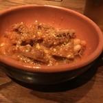 トラットリアチッチョ - 牛ハチノスと白いんげんのトマト煮込み