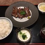 山風木 - 料理写真:極上厚切り牛たん定食 1,680円 とろろ小 120円