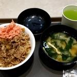 松屋 - 料理写真:プレミアム牛めしミニ:330円
