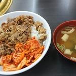焼肉 白頭山 - カルビ丼 中盛 ¥480