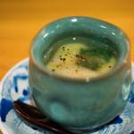 平和寿司 - 2018.4 コノワタとフカヒレの茶碗蒸し