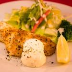 白身魚の香草パン粉焼き