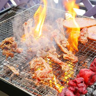 《系列焼肉店から仕入れ!》オープンテラスで本格BBQ☆