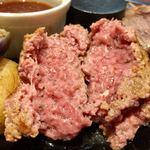 田町 大人のハンバーグ - ランチ限定10食 ハーフ&ハーフ 1,980円 和風にんにく、ライス小