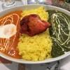 インドスパイス - 料理写真:「B set(ダブルカレーセット)」950円也。税込。