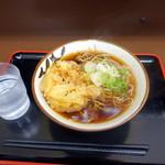 天かめ - かき揚げ蕎麦340円