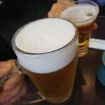 金のうなぎ 上野毛店 - 瓶ビールとジョッキとありました。