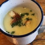 Lucaバル - グリンピースのポタージュスープ