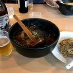平良久亭 - 昨日食べたラーメン定食