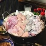 84902537 - 白子あんこう、牡蠣、あんきも鍋