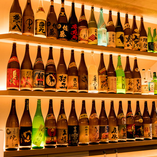 日本酒焼酎58種。全国各地から厳選~東京一豊富なもんじゃ屋